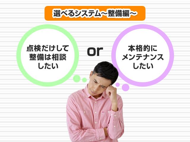 選べるシステム~整備編~
