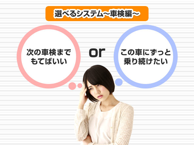 選べるシステム~車検編~